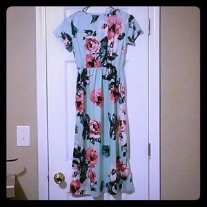 Kids floral maxi dress